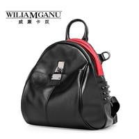 WILIAMGANU New Female Bag Fashion Lady Backpack Genuine Leather Women One Shoulder Bag Multifunctional Backpack Travel