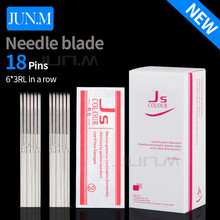 50Pcs 6*3Rl Microblading Needles Blade Fog Eyebrow Sterile Separate Packaging Permanent Makeup For Tattoo Manual Pen