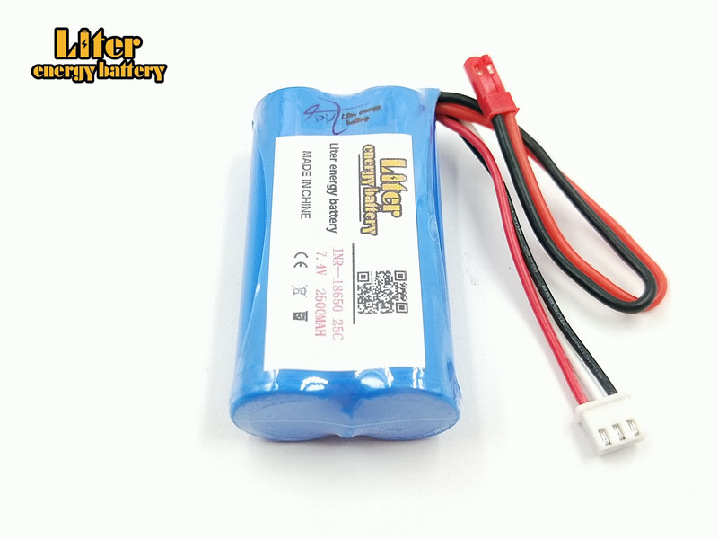 7.4V 2500mAH Wholesale Li-po Lipo Batery 2S remote control helicopter 7.4 V 2500 mAH Lipo battery 25C 18650 Toy Battery