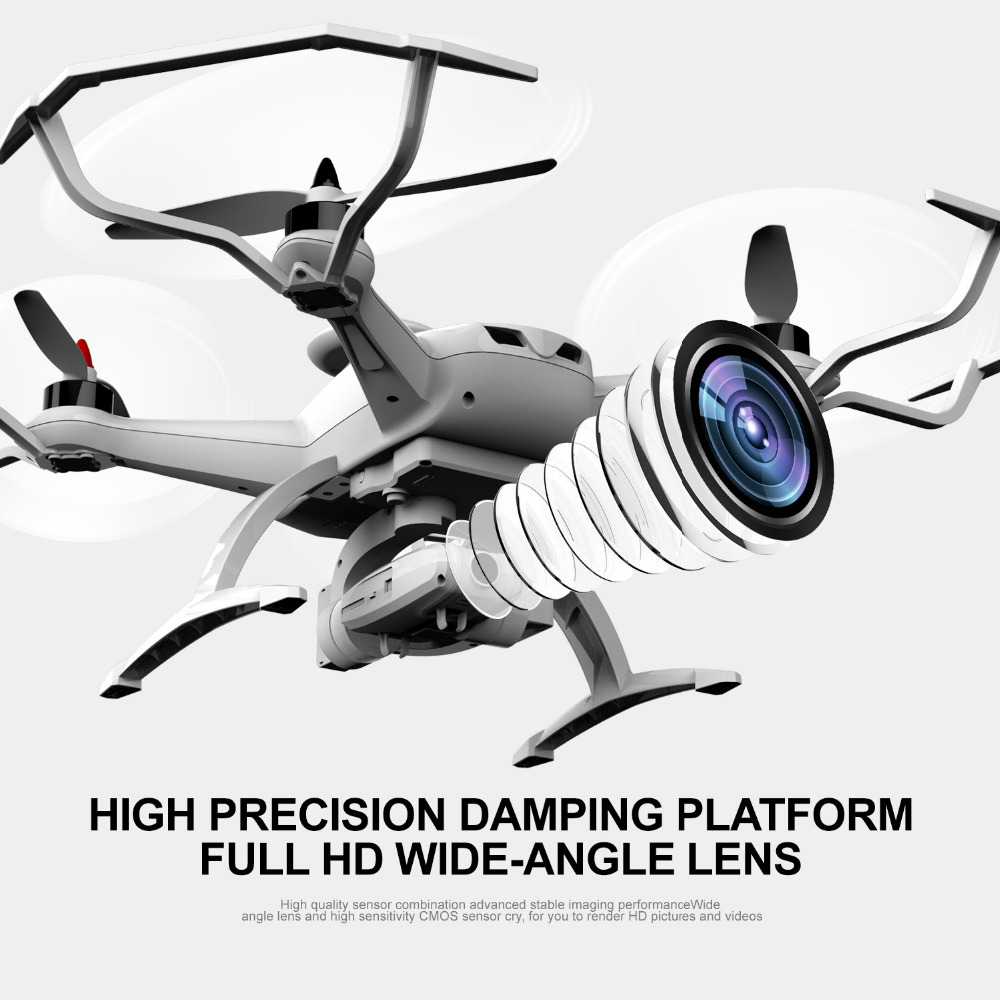Brushless FPV Drone with Camera 16MP Pixel RC Helicopter Remote Control Quadcopter Altitude Hold Point of Interest Follow Me