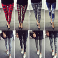 High Quality Autumn Women Leggings Milk Silk Red Letter Printed Leggings Elastic Waisted Soft Leggins Sexy Quick Dry Pants Women