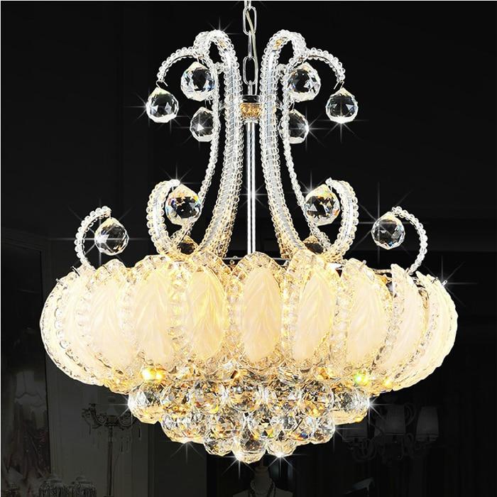 Moderní křišťálové lustrové osvětlení Lustry se stříbrným zlatem Lustry Svítidla Lustry Lampy Evropská domácí interiérová svítidla AC90V-260V