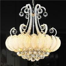 Modern Crystal Chandelier Lighting Silver Gold Chandeliers Lights Fixture Lustres Lamps European Home Indoor Lighting AC90V-260V