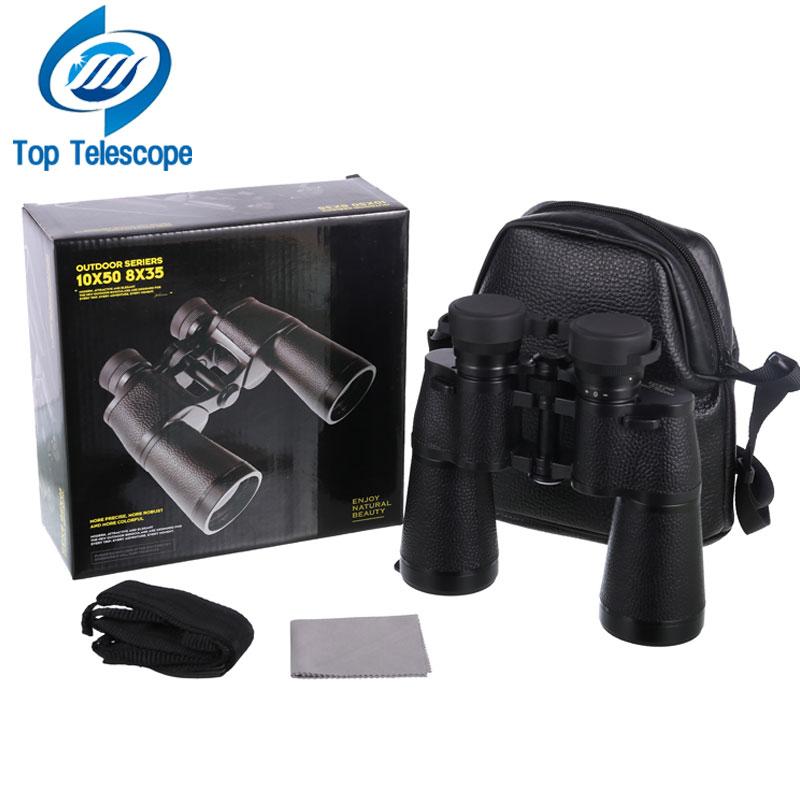 New Telescope Rouya 10x50 binoculars Nitrogen waterproof High-power high-definition Night Vision Hunting eyepiece