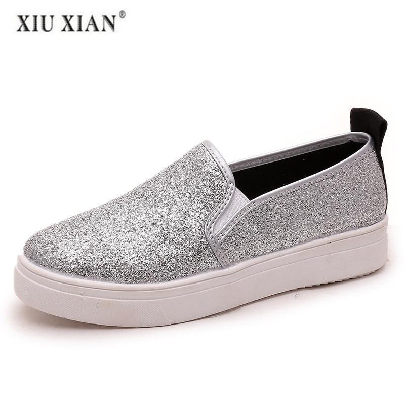 Mocassins Femme Couleur Nouvelles Femmes 2 Designers Rond Luxe Plat silver Black Appartements Bout Chaussures Dames Mode 2018 De zUv8w8q
