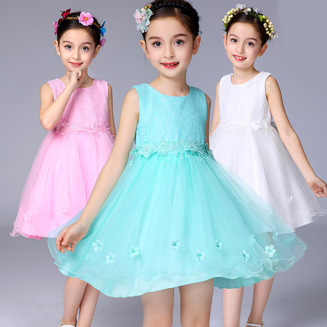 Flower Girl Dress For Wedding 3 12 Years Birthday Outfits Childrens Girls First Communion Dresses