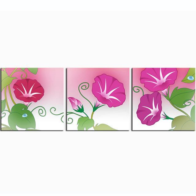 Modular Wall Painting Morning glory Canvas Print Poster Paintings ...