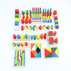 Image 2 - Baby Toy Montessori Sensorial Toys 1 lot =14 pieces Early Childhood Education Preschool Training Kids Toys Brinquedos Juguetes