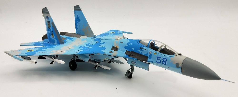 rare Special Offer 1:72 Ukrainian Air Force SU-27 Side Guard Fighter Model Alloy Military Model Collection