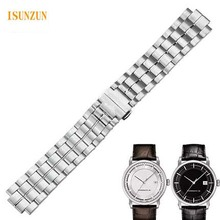 купить ISUNZUN 22mm Stainless Steel Watch Strap For Tissot 1853 T086 Men's Watch Band for T086407A Silver With Pin Buckle Durable band по цене 4684.24 рублей