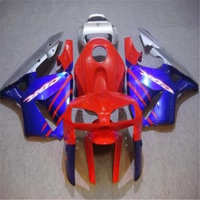 H Hot Sales,For CBR600RR F5 2005 2006 Parts CBR 600 RR F5 05 06 Blue Red silver Motorcycle Fairing Set (Injection molding)