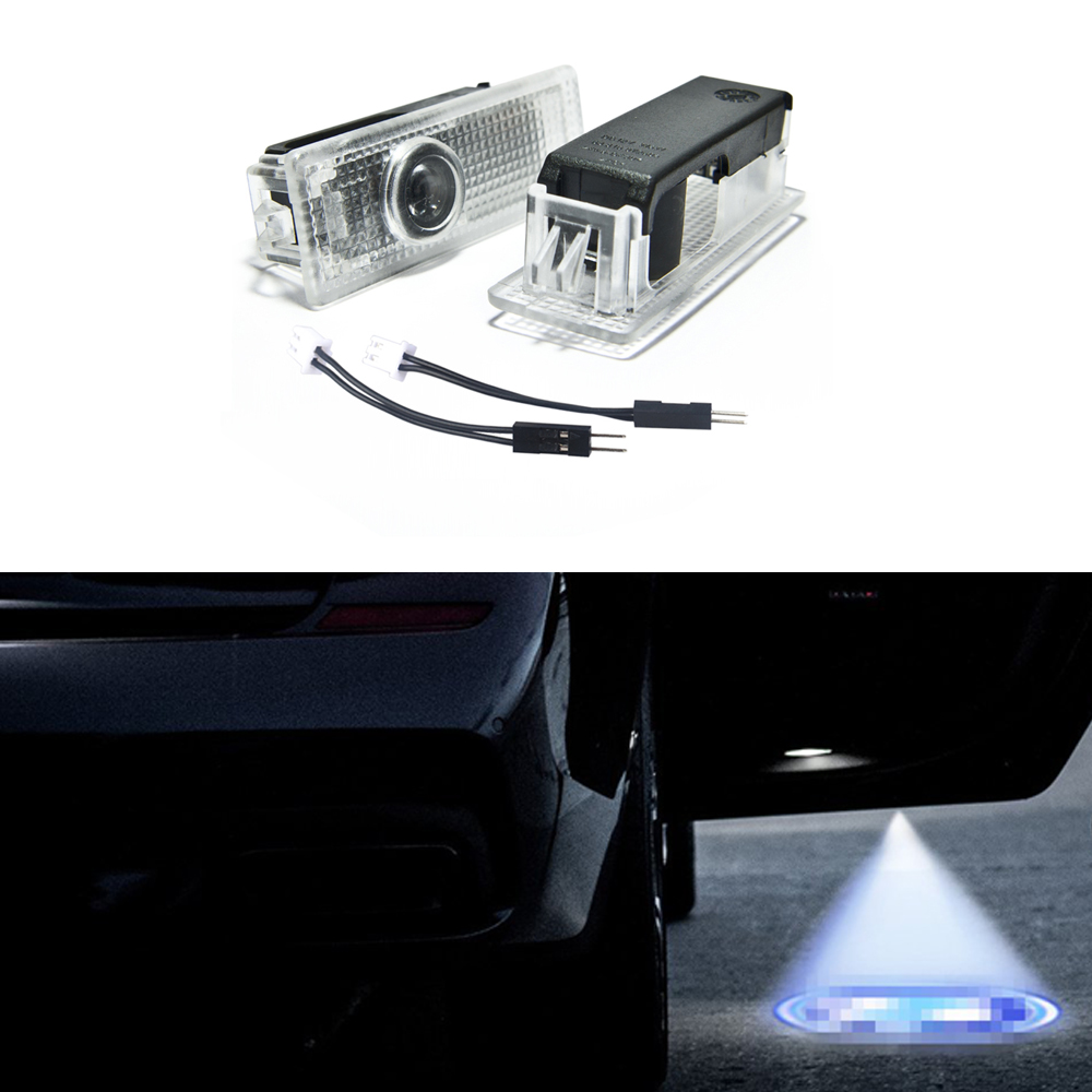 Welback Easy Installation Car Door LED Logo Projector Ghost Shadow Lights For BMW 2-pc Set with Adapter Cable