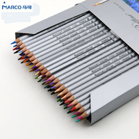 Marco Raffine Fine Art Colored Pencils 48 Colors Drawing Sketches Mitsubishi Colour Pencil School Supplies Secret