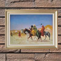 Duvar Asma Ev Duvar Sanat Yağlıboya, Ünlü Sanat Eserleri Araplar Desert Geçişi Üreme Yağlıboya Tuval Boyama