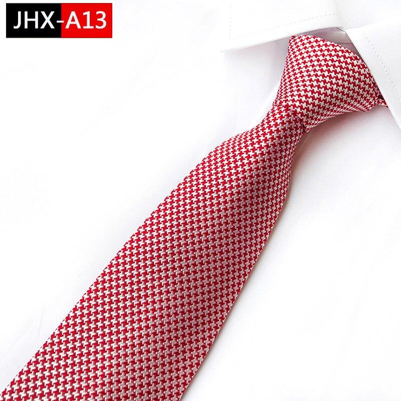 Man's Necktie Houndstooth Silk Ties  Classic Pink Jacquard Tie Suit Wedding Engagement Ties