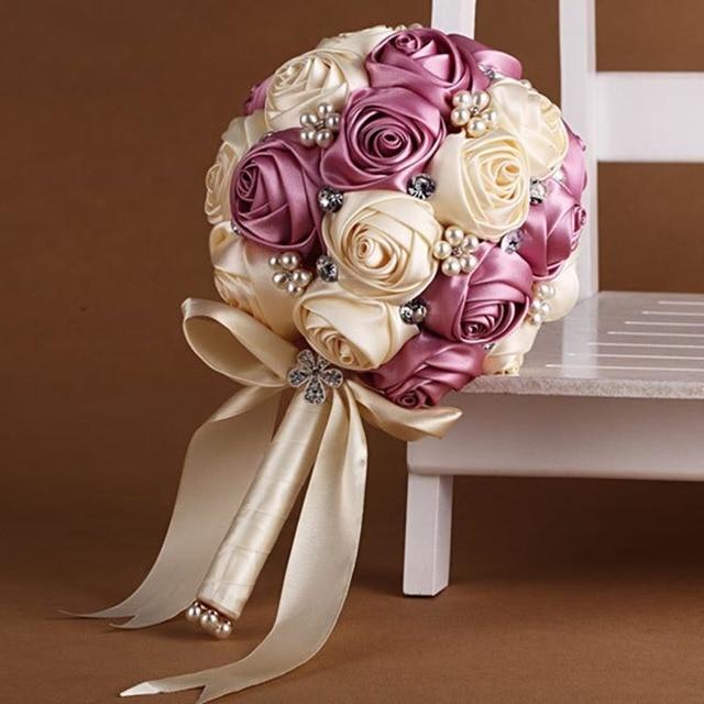 Горячие Продажи 2017 YIYI Невесты Свадебный Букет Индивидуальные Свадебные Цветы Свадебные Букеты Искусственные Свадебный Букет WB020