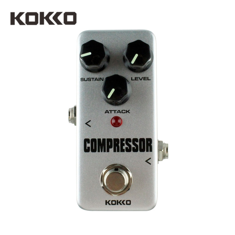 KOKKO FCP2 Compressor Mini Guitar Pedal Portable Effect Pedal Guitar Part Guitarra Effect Pedal Fully Analog Circuit Ture Bypass tomsline alr 3 guitar effect pedal accessories liner aby line selector mini electric guitar effect pedal ture bypass