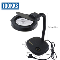 BES BST 208L 5X 10X Magnification Adjustable LED Magnifying Glass Table Lamp Magnifier For Mobile phone repair