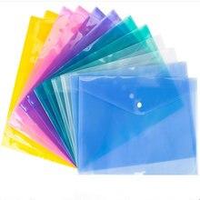 Папка для документов с прозрачными кнопками А4 бумажная папка