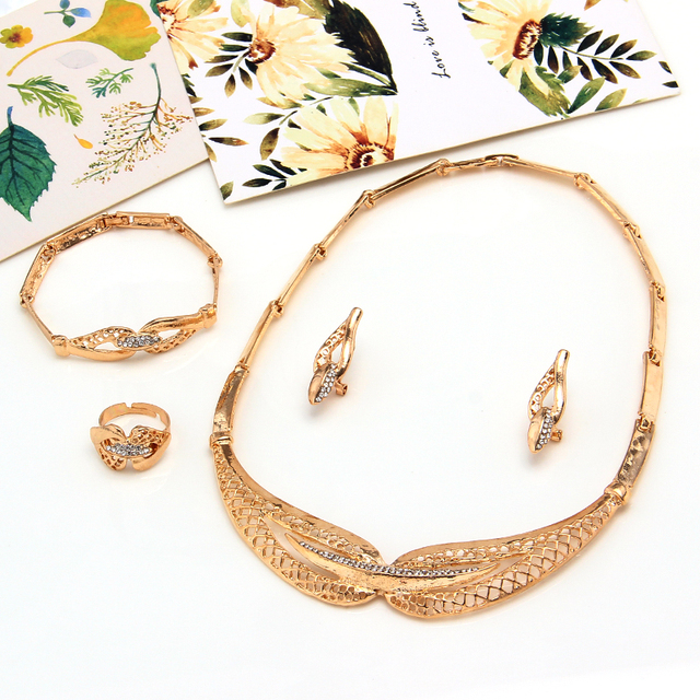 Zoshi dubai conjuntos de jóias de cristal colar pulseira brincos anel festa de casamento nigeriano moda feminina conjunto de jóias 2