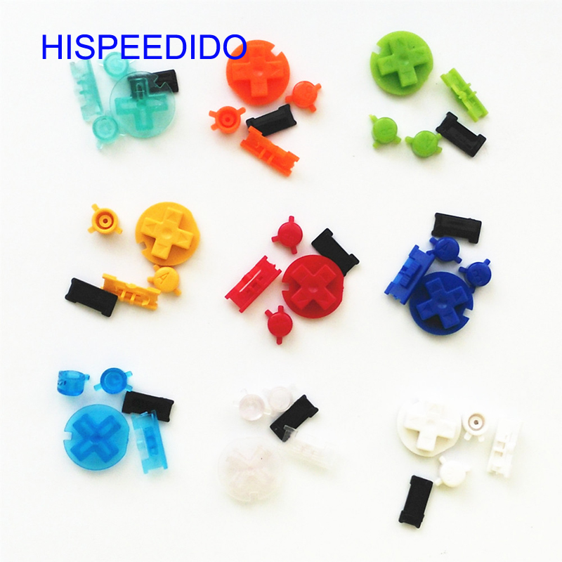 HISPEEDIDO Colorful buttons set replacement for Gameboy Color for GBC Game Console ON OFF Button AB Buttons D Pads replacement(China)