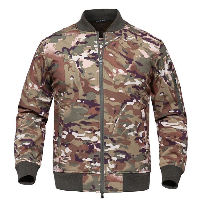 TUWILD outdoor MA1 pilot jacket men s tactical waterproof military uniforms plus velvet soft shell jacket
