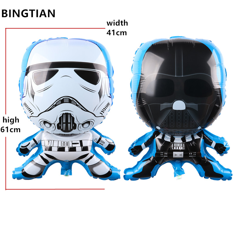 BINGTIAN Star Wars black and white warrior balloon Birthday Party Wedding Decoration Balloons Kids Classic Toys Inflatabel