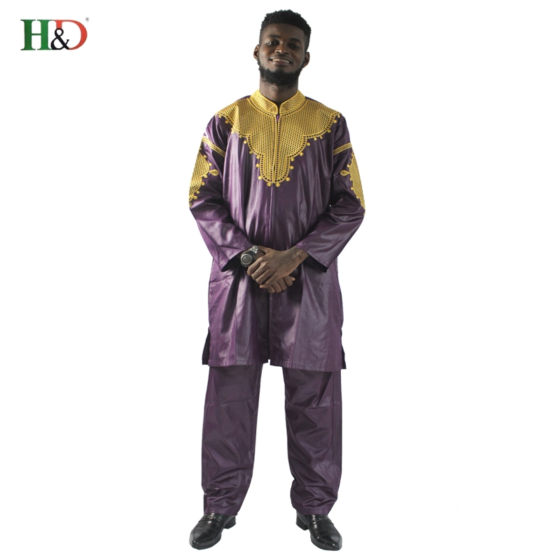 H&D African mens clothing traditional zipper riche africano hombres - World Apparel