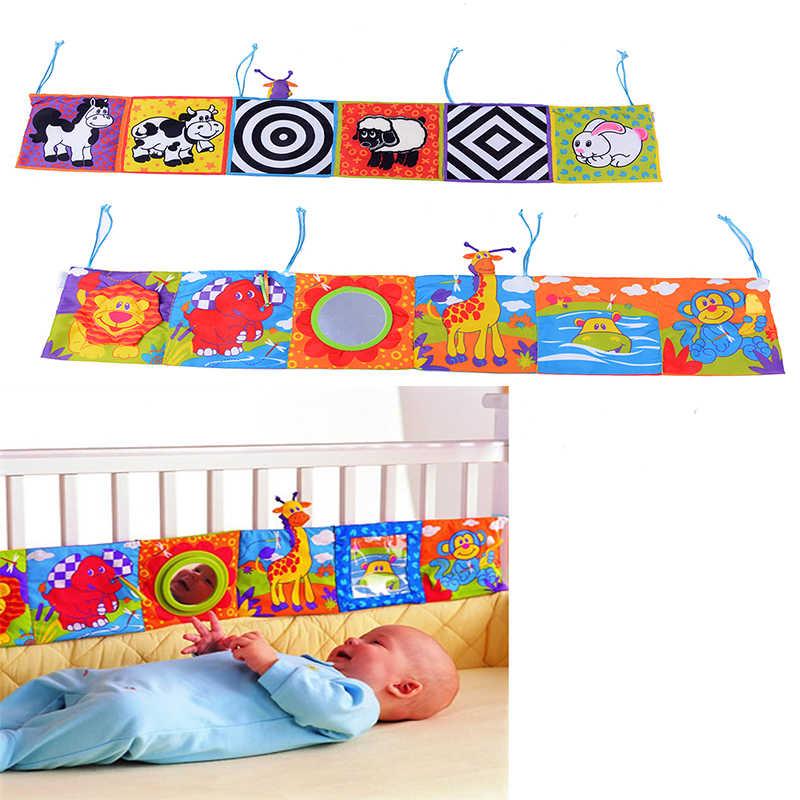 Горячие детские игрушки для детей книга из ткани для детей Погремушки Знания Вокруг Multi-touch кровать Bumpe двойное использование красочный новорожденный подарок кроватки бампер