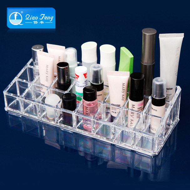 QF Fashion Clear Acrylic Cosmetic Jewelry Makeup Organizer Storage
