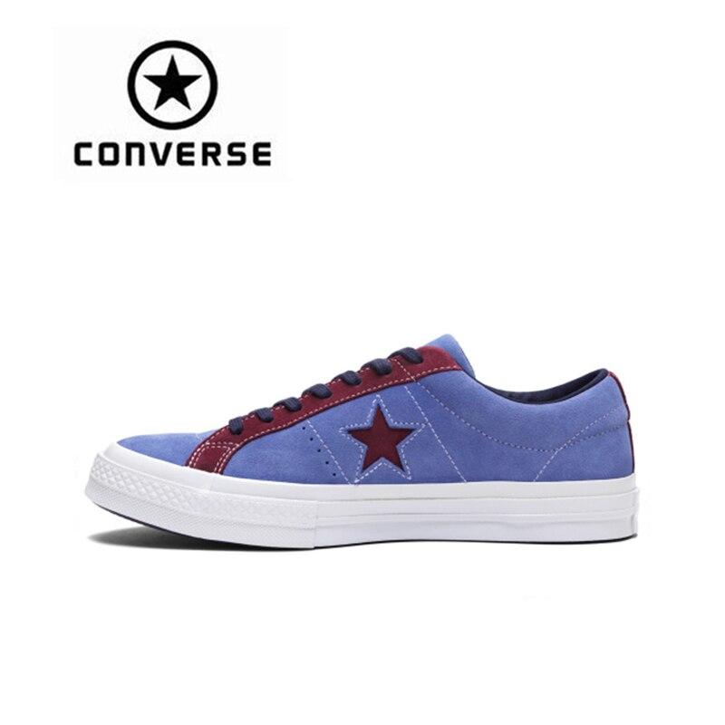 Converse One Star unisexe chaussures de skate Sport pour hommes et femmes léger confortable résistant à l'usure toile baskets 161613C