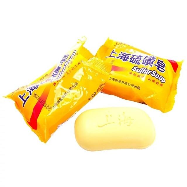 5 pcs 85g Shanghai Sulfur Soap 4 Skin Acne Psoriasis  Conditions  Seborrhea Eczema Anti Fungus Perfume Butter Bubble Bath 2