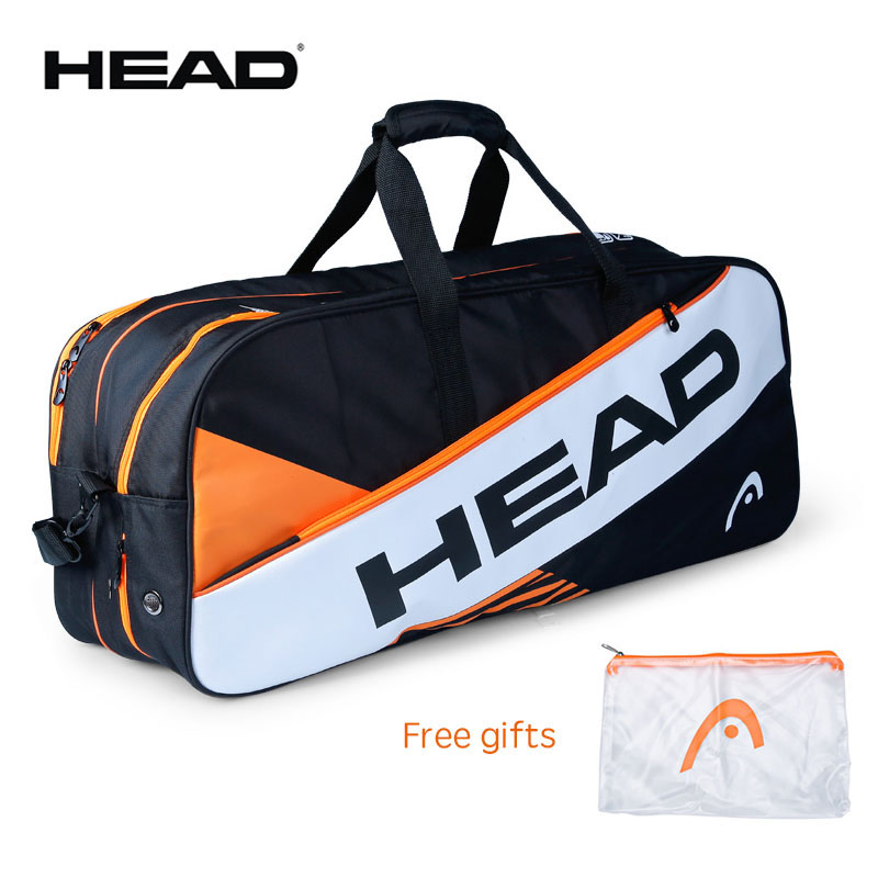 Professional HEAD Clothing Bag For Tennis Badminton Accessories With Independent Shoes Bag Large Capacity Male Original