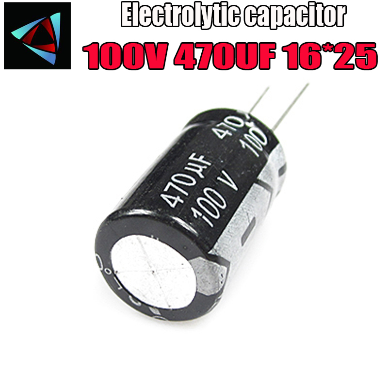 2PCS 100V 470UF 16*25mm 470UF 100V 16*25 Electrolytic Capacitor