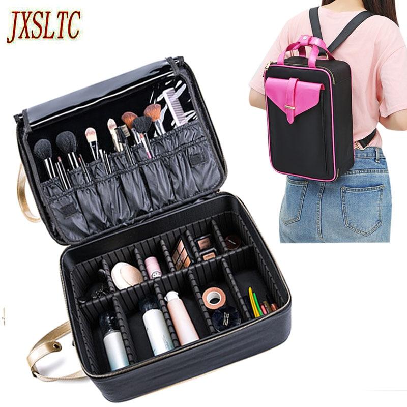 Ladies professional cosmetic bag storage bag large capacity disassembly cosmetologist makeup bag handbag travel portable cosmeti