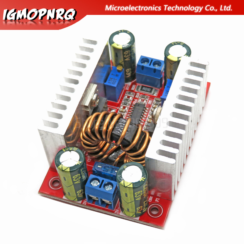 1pcs DC 400W 15A Boost Converter Constant Current Power Supply LED Driver 8.5-50V To 10-60V Voltage Charger Step Up Module