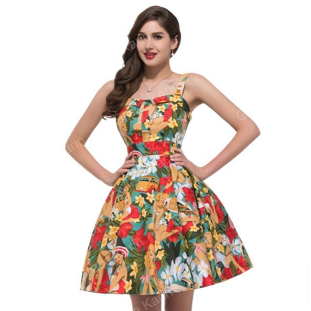 2d39d60713 Women Summer style plus size clothing pin up Dress Rockabilly Vintage Audrey  Hepburn Swing 50s 60s mini dress vestidos 6092
