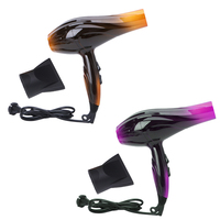 KEMEI Professional Salon Tools Blow Dryer Heat Super Speed Blower Dry Hair Dryers US Plug Gold