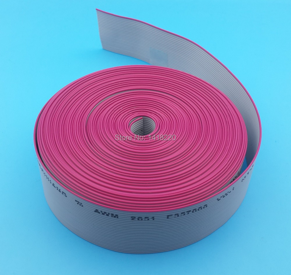 2M 26 Way gray flat ribbon cable 1.27mm pitch for 2.54mm Diameter 0.1mm FC connectors