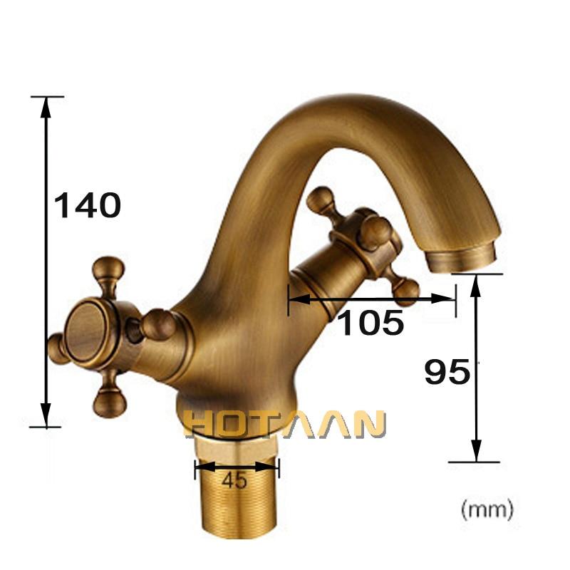 HTB1RpQYhbsTMeJjy1zbq6AhlVXag HOTAAN Solid Brass Bronze Double Handle Control Antique Faucet Kitchen Bathroom Basin Mixer tap Robinet Antique YT-5021