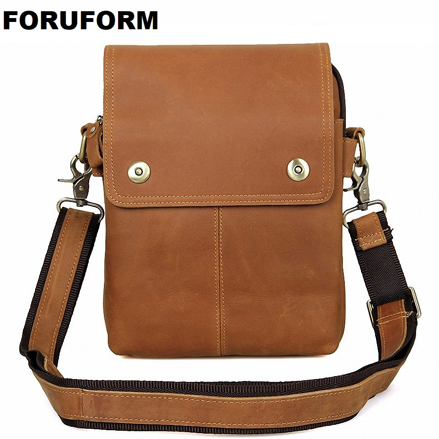купить 2018 New Fashion Men Bags Genuine Leather Business Travel Messenger Bag Brand Design men's Shoulder Bag 2 Colors LI-1619 по цене 3029.29 рублей