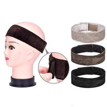 1 Pcs Velvet Hair Band Adjustable Velvet Wig Lace Grip Hair Band Headband Wiggery Accessery Headband 3 Colors Hot Sale(China)