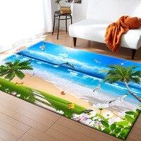 3D Blue Sea Beach Mediterranean Style Carpets for Living Room Bedroom Area Rugs Coffee Table Sofa Antiskid Floor Mat Home carpet