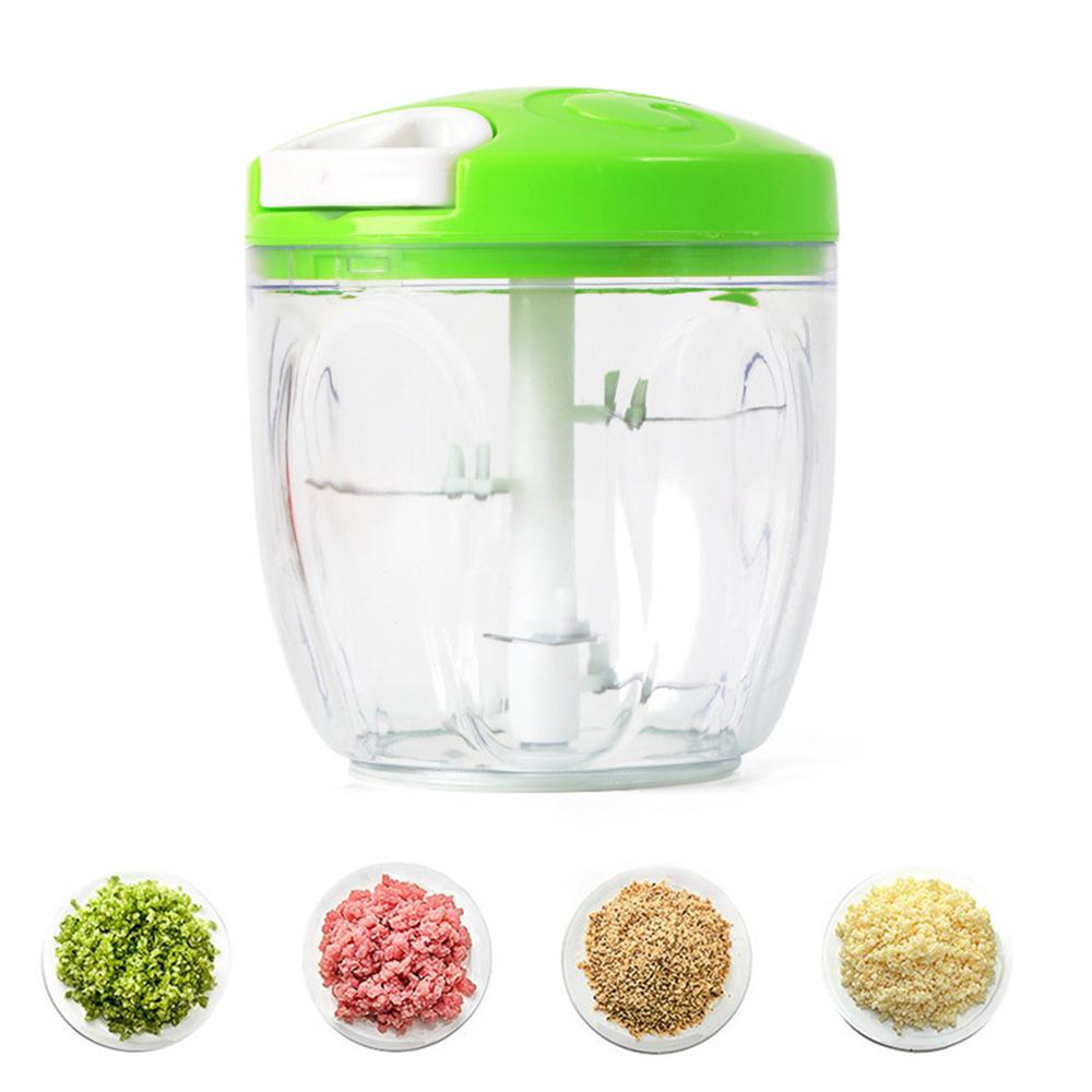 Manual Food Chopper 1000 Ml, Powerful Easy Pull Upgraded Hand Held Vegetable Onion Chopper/Food Processor/Blender,14*12.5*8cm