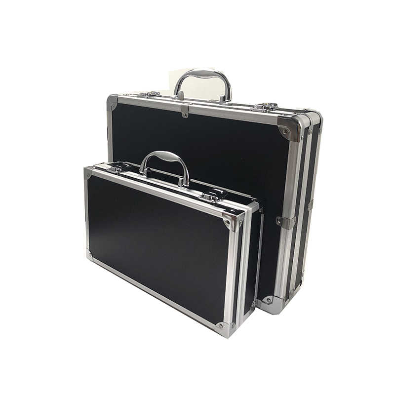 Aluminium Gereedschapskist Draagbare Veiligheid Apparatuur Instrument Case Koffer Multifunctionele Profiel Gereedschapskist Hardware Tool Case Met Schuim