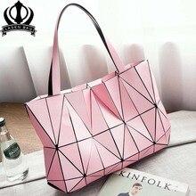 Colore rosa di modo sac Borsa delle signore Tote Bag diamante geometrica quilted sacchetti di spalla delle donne borse per le donne 2020 bolsa feminina sac un principale