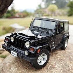 1:18 весы для Jeep Wrangler Sahara модель автомобиля SUV имитация сплава Игрушечная модель автомобиля с рулевым колесом управление передним колесом