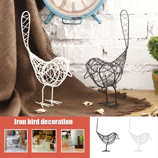 Metal Iron Wire Bird Hollow Model Artificial Craft Fashionable Home Furnishing Table Desk Ornaments Decoration Gift Drop Shiping 6
