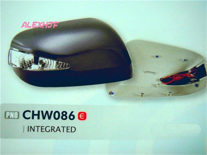 Автомобильное зеркало заднего вида крышка с желтый светодиодный поворотники и белый позиции Габаритные огни чехол для Honda Fit/Jazz/Insight - 4