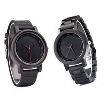 2019 Luxury Wood Watch Men New Wooden Genuine Leather Strap reloj mujer Quartz Watches Analog Wristwatch Male Relogio A20 B14